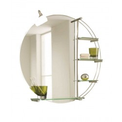 Elegance Windsor Mirror With Lights And Accessory Shelves