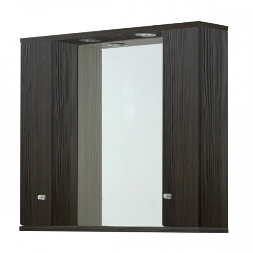 Elegance Aquapure 1 Avola Grey 1050 Mirror Cabinet And Light image
