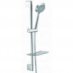 Elegance Sloane Slide Rail Kit With Chrome Flex Hose And 3 Jet Hand Shower