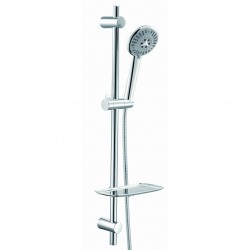 Elegance Athena Slide Rail Kit With Chrome Flex Hose And 6 Jet Hand Shower