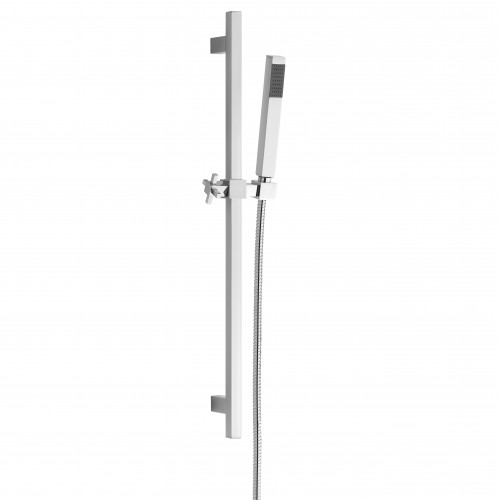 Elegance Blok Slide Rail Kit With Brass Hand Shower And Double Seam Hose image