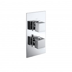 Elegance Cube Twin Concealed Thermostatic Shower Valve