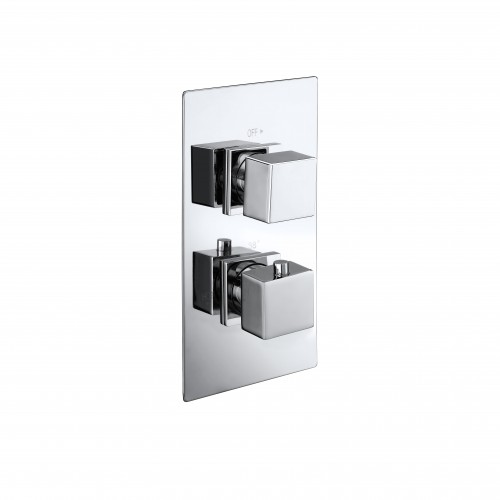 Elegance Cube Twin Concealed Thermostatic Shower Valve image