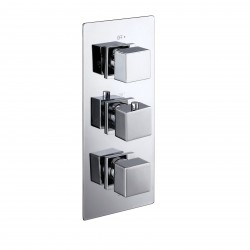 Elegance Cube Triple Concealed Thermostatic Shower Valve