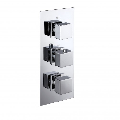 Elegance Cube Triple Concealed Thermostatic Shower Valve image