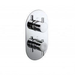 Elegance Evoke Twin Concealed Thermostatic Shower Valve
