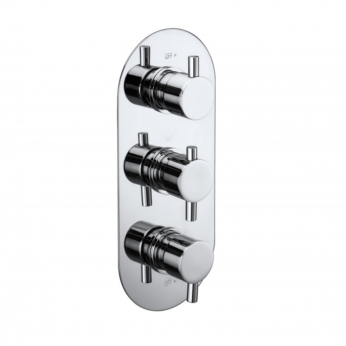 Elegance Evoke Triple Concealed Thermostatic Shower Valve | Bar ...
