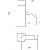 Hudson Reed Arcade Eco Click Mono Basin Mixer Tap - ARC305 image