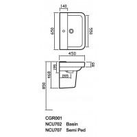 Hudson Reed Granger 650mm Basin - CGR001 image