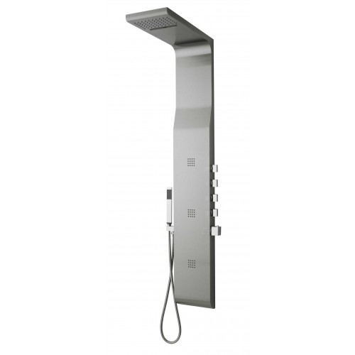 Hudson Reed Surface Linear Chrome Thermostatic Shower Panel - AS343 image