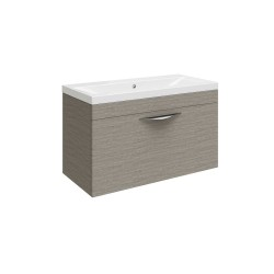 Hudson Reed Memoir 600mm 1 Drawer Wall Mounted Basin & Cabinet - Blonde Oak - CAB179