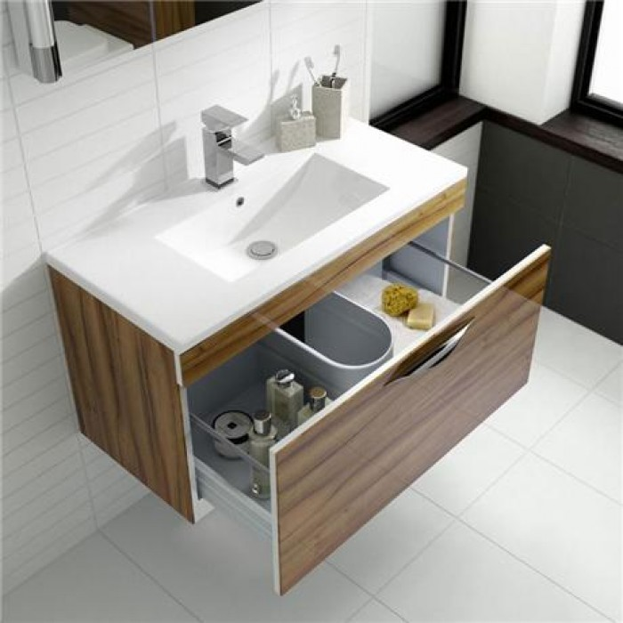 Hudson reed memoir 600mm 2 drawer floor mounted basin for Bathroom cabinets 800mm high
