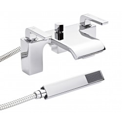 Hudson Reed Carma Bath Shower Mixer with ShowerKit and Wall Bracket - CMA304