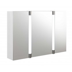 Hudson Reed Lincoln Mirror Cabinet With LED Light, Motion Sensor and Clock