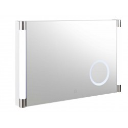 Hudson Reed Lara Touch Sensor LED Mirror With Integrated Magnifying Mirror