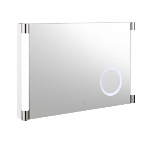 Hudson Reed Lara Touch Sensor LED Mirror With Integrated Magnifying Mirror image