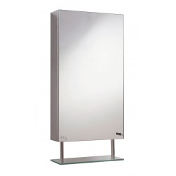 Hudson Reed Baltimore Single Mirror Cabinet With Shelf Fitted