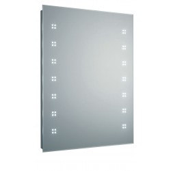 Hudson Reed Lucid LED Mirror With Shaving Socket, De-Mister Pad And LED Motion Sensor