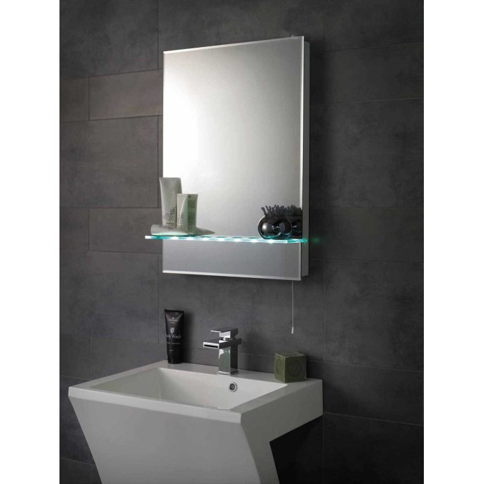 hudson reed tempest led mirror with shelf mirrors. Black Bedroom Furniture Sets. Home Design Ideas