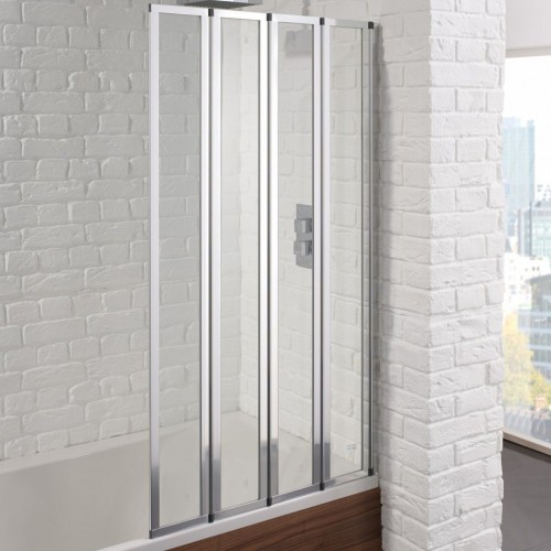 Aquadart Venturi 6 4 Fold Bath Shower Screen - AQ9350S image