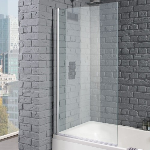 Aquadart Venturi 8 Square Edge Bath Shower Screen - AQ6000 image