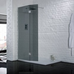 Aquadart Wetroom Return Panel Smoked - AQ2032-SMOKED