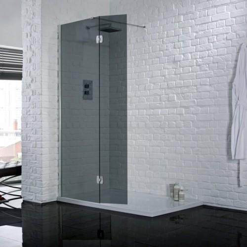Aquadart Wetroom Return Panel Smoked - AQ2032-SMOKED image