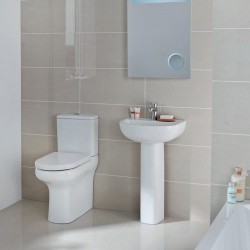 Elegance Compact Eco Rimless Complete Bathroom Suite