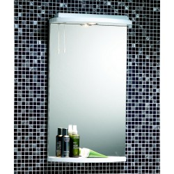 Mere Arosa 430mm Mirror with Shelf, Cornice and Light