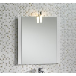 Mere Jenta 600mm Mirror with Light and Side Decor