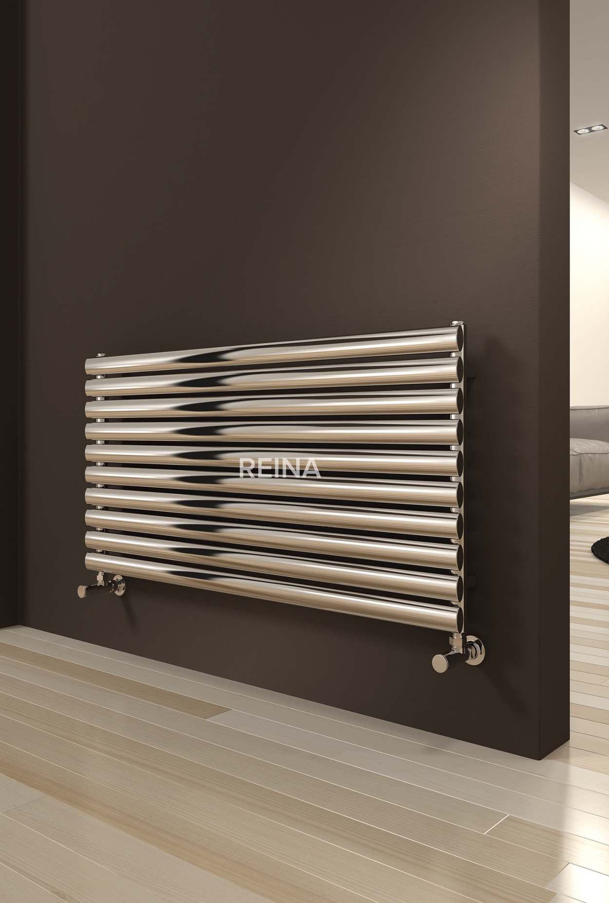 Reina Artena Horizontal Single Panel Radiator Stainless